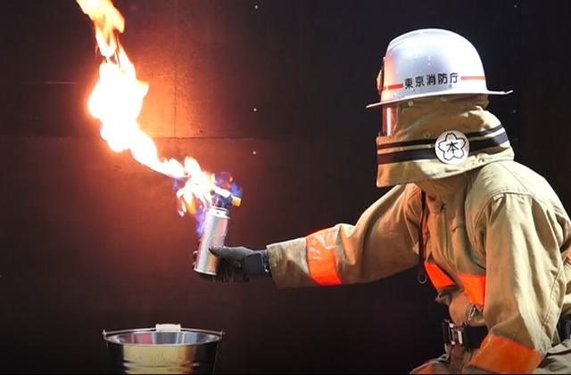 東京消防庁の再現映像