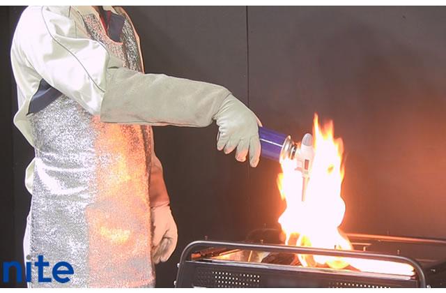 ガストーチガス漏れ引火