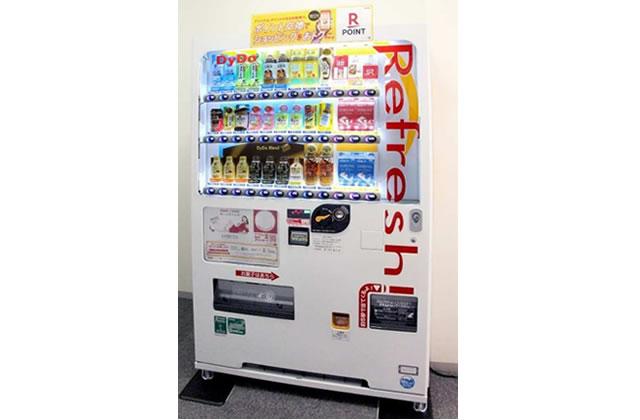 ストッキングを販売するダイドー自販機