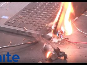 非純正バッテリーから発火する中古ノートパソコン